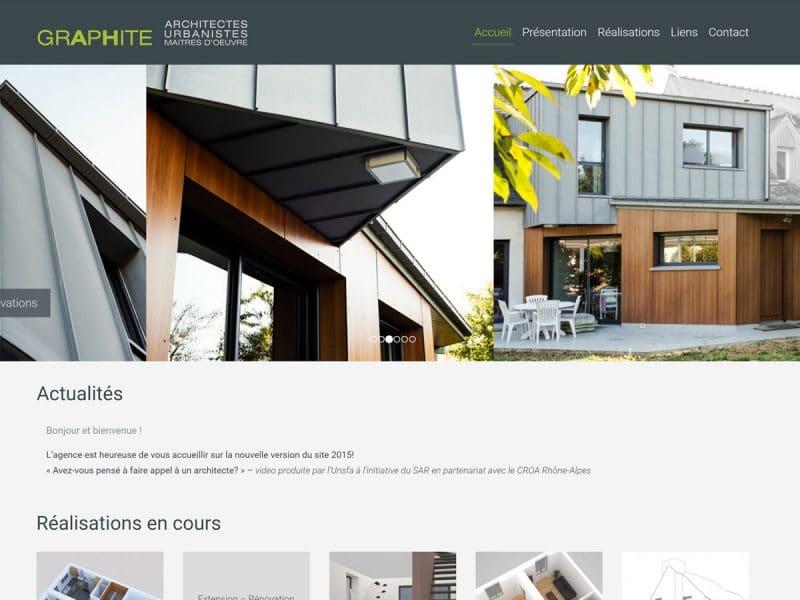 Site Web Graphite Architectes
