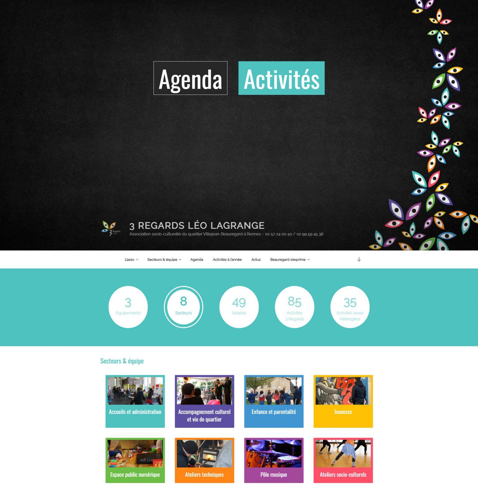 Page d'accueil site web 3Regards