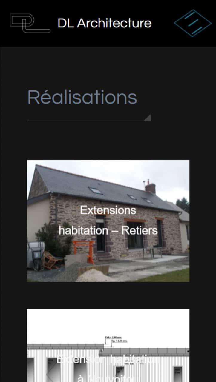 Page réalisations DL Architecture version mobile