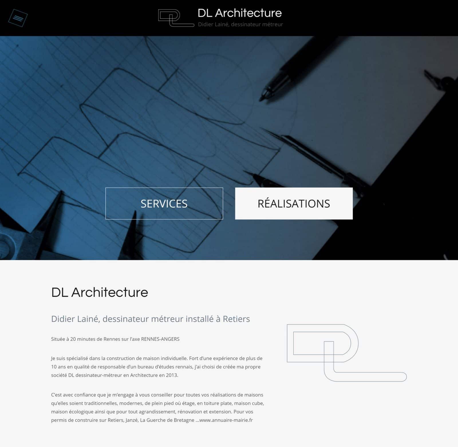 Page accueil DL Architecture