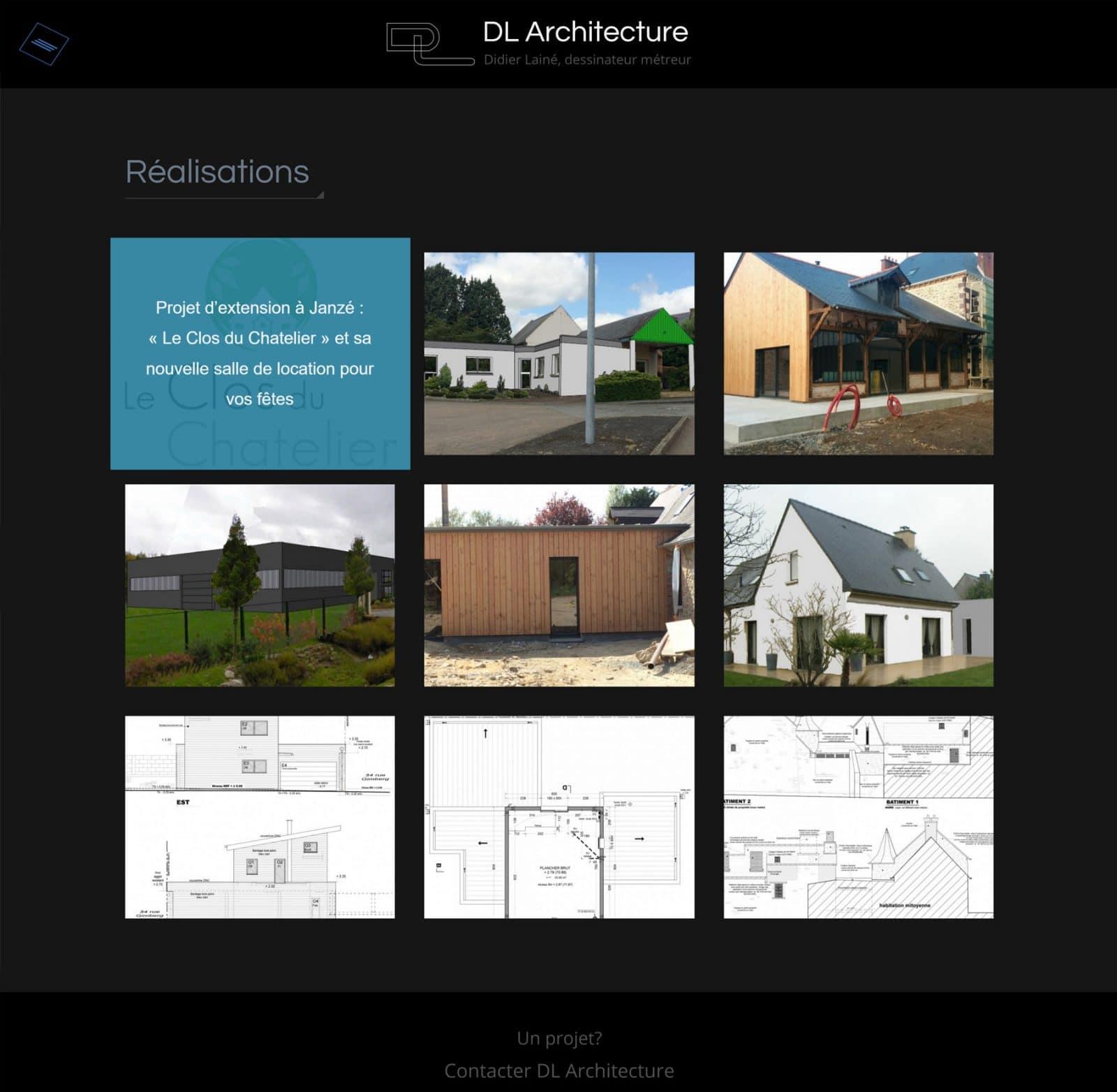 Page réalisations DL Architecture