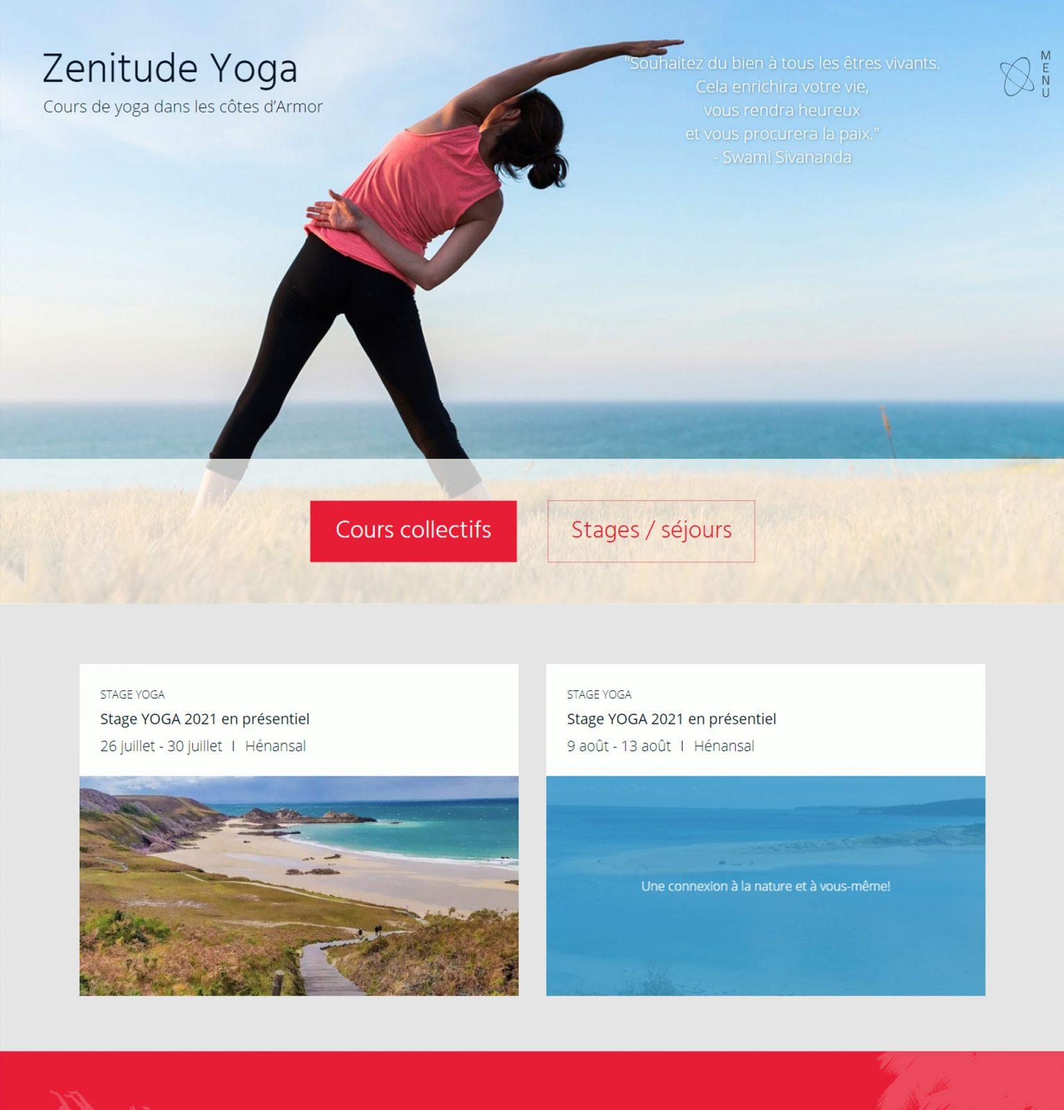 Page accueil Zenitude Yoga version2