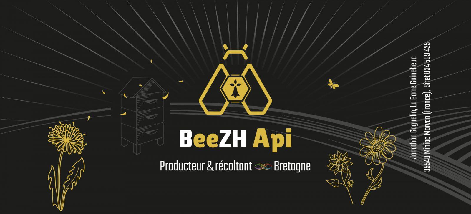 Etiquette pot de miel Beezh Api