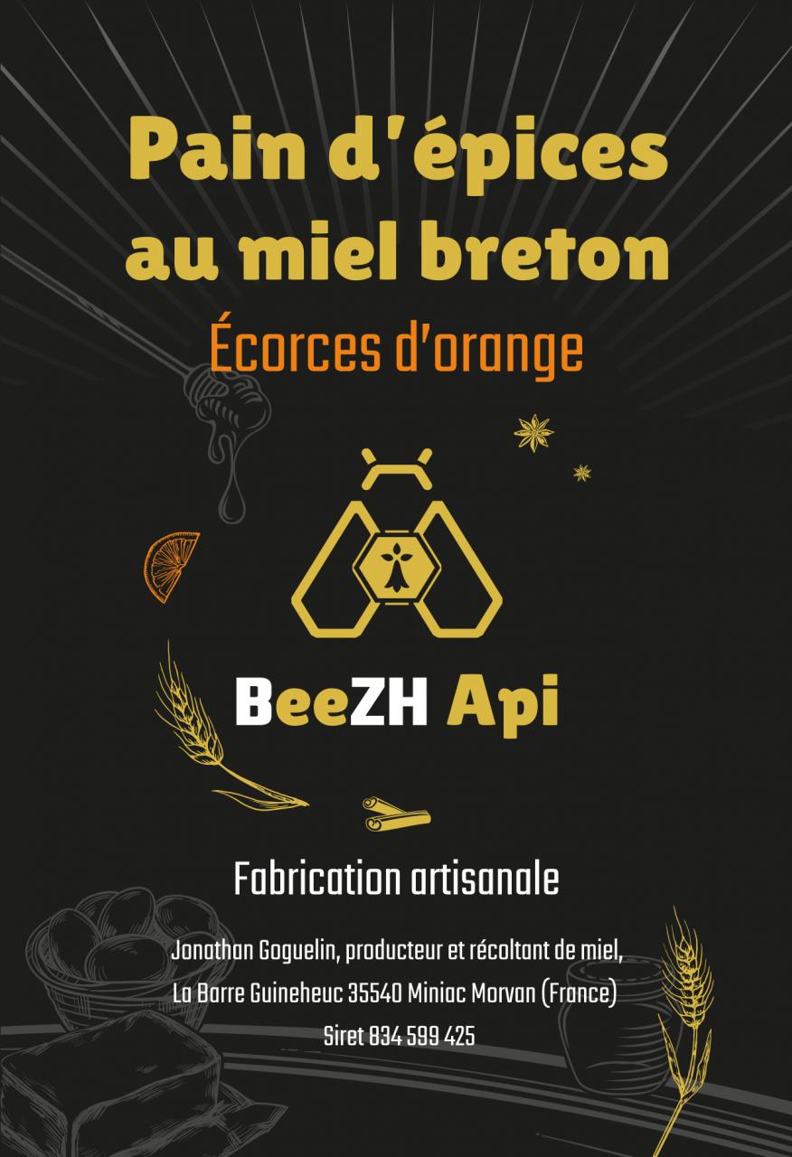 Etiquette écorces d'orange Beezh Api