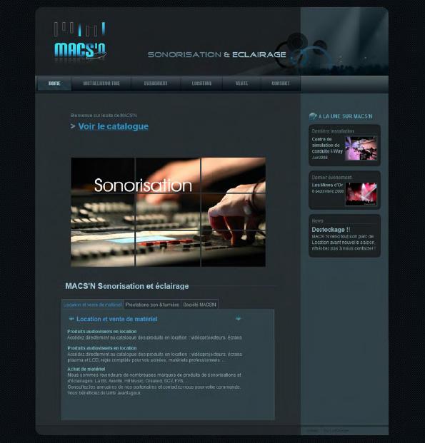 Page d'accueil Macs'n